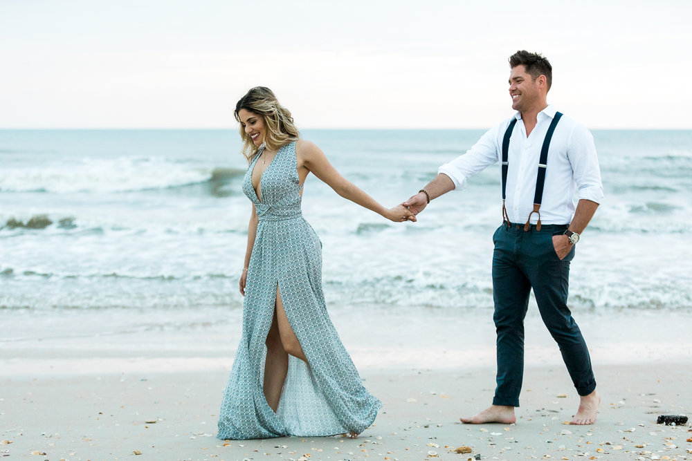 Beach engagement photos in North Florida