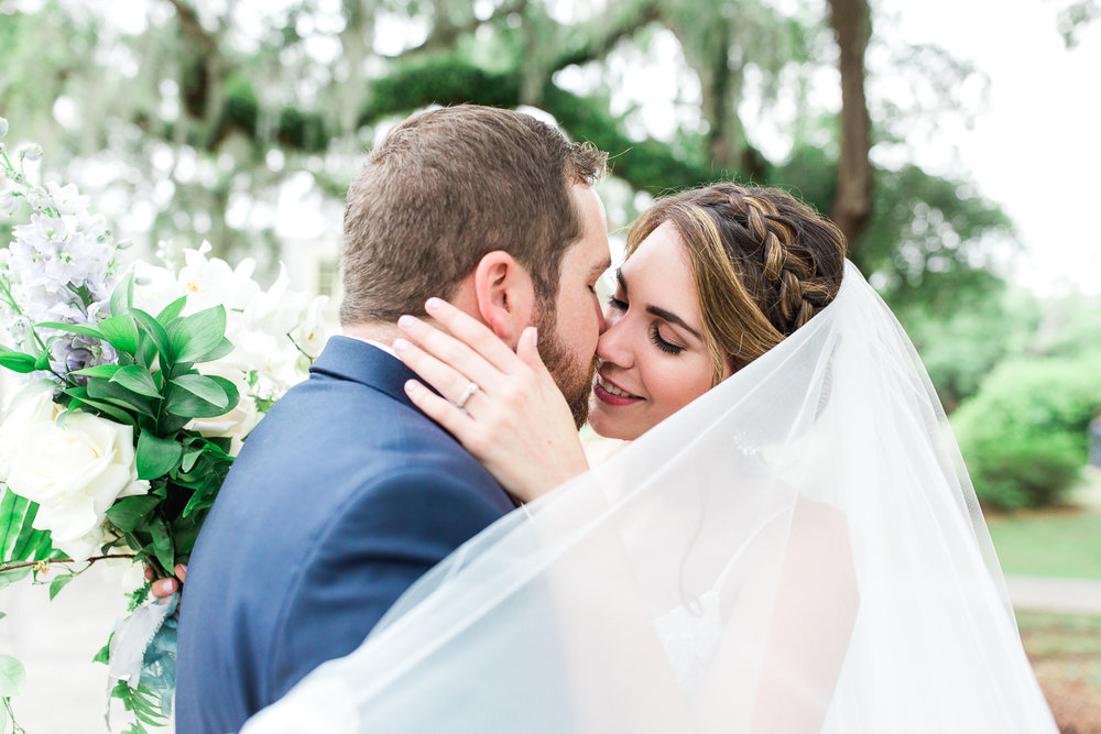 bride and groom portraits in jacksonville fl wedding