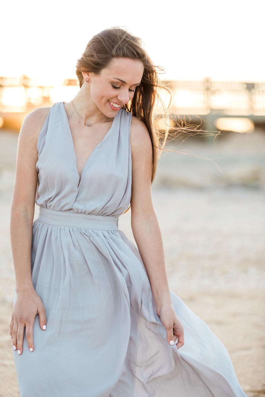 Grey maxi dress - size XS