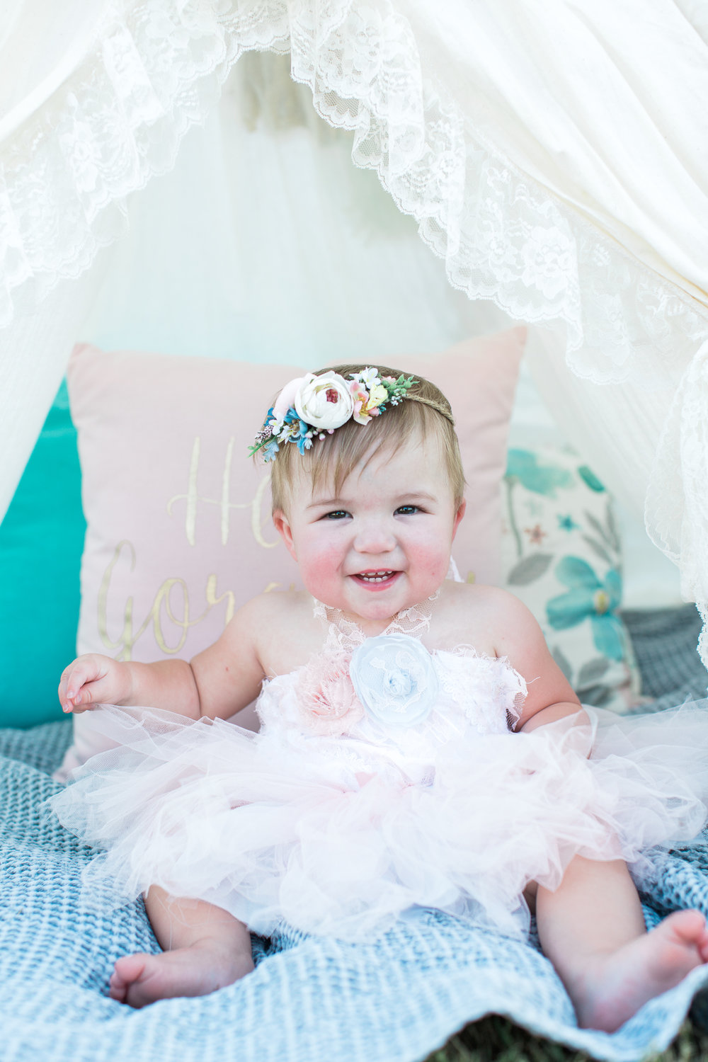 2 piece outfit - lace top and tulle skirt - 12months