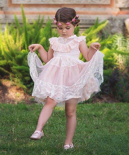 Trish Scully blush pink dress - size 6T