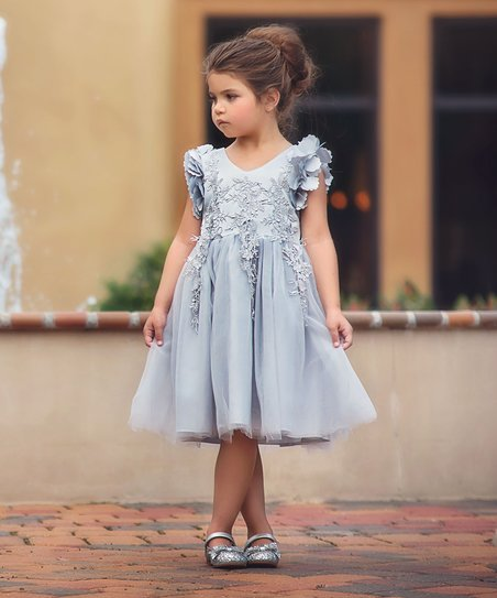 Trish Scully grey/silver dress - size 3T