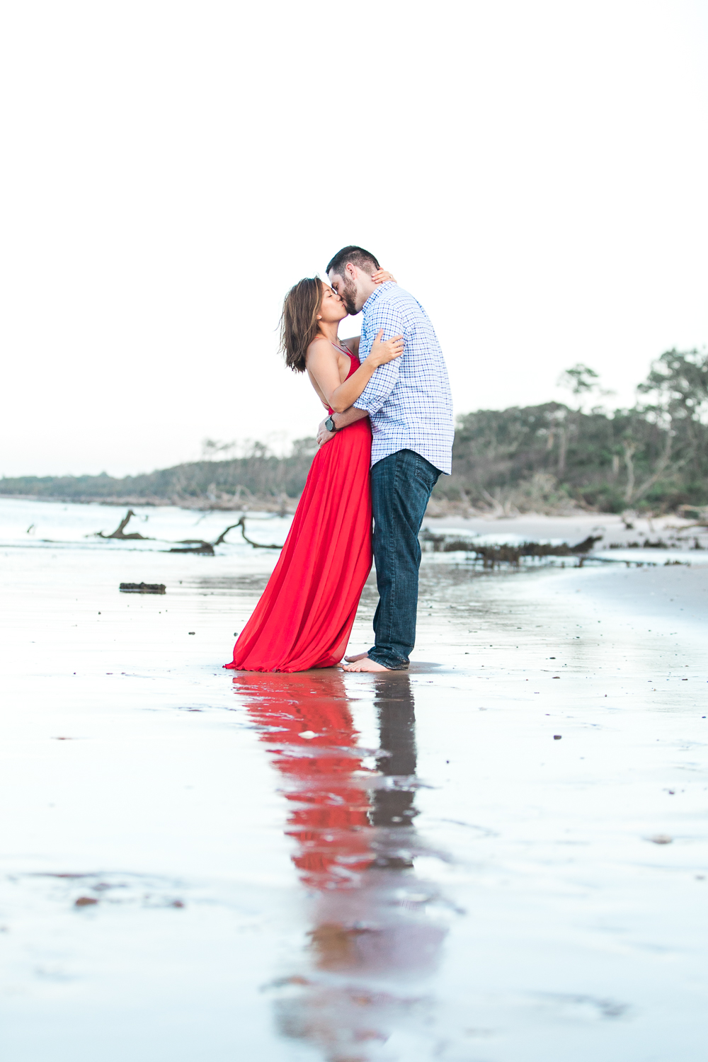 high fashion engagement pictures in big talbot island, jacksonville fl