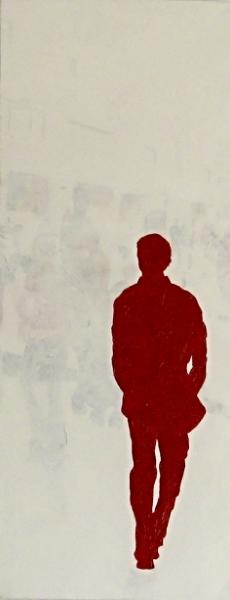 red man walking