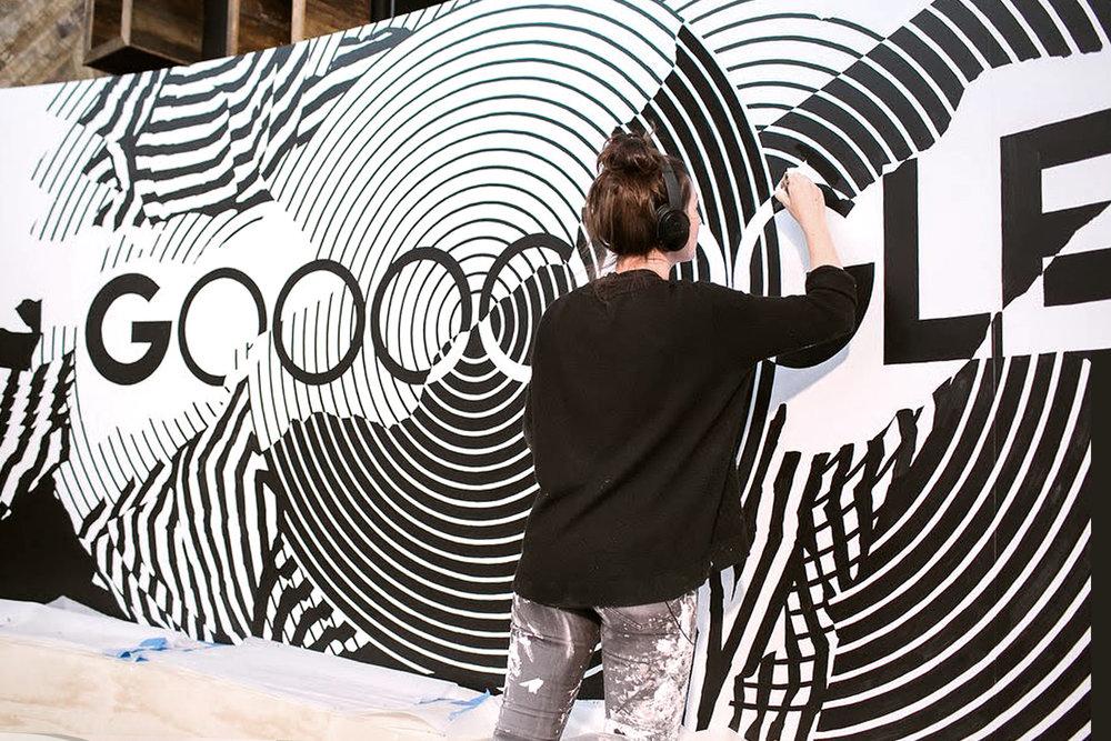 Georgia Hill Google Pixel 3 Launch Painting Mural.jpg