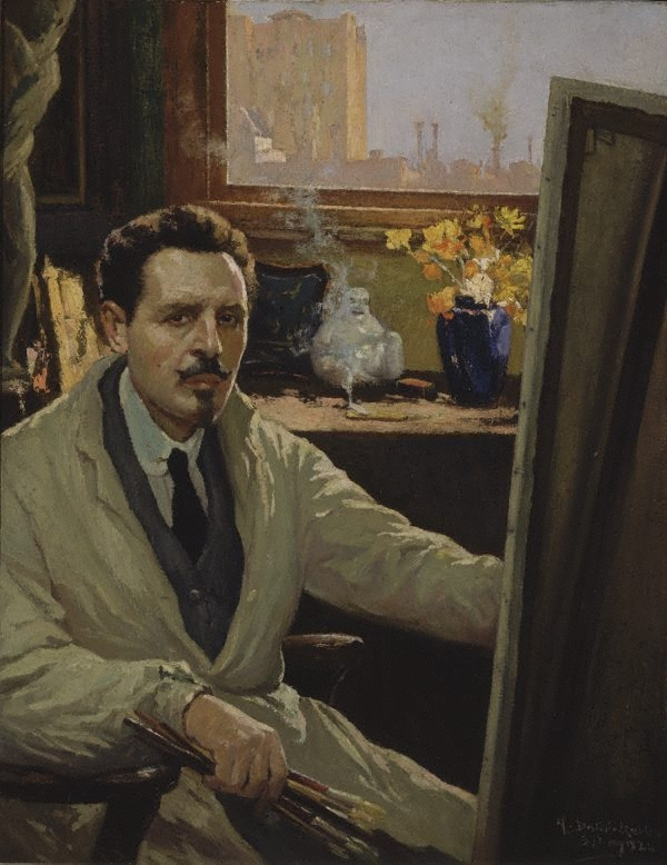 Self Portrait, Antonio Dattilo Rubbo, 1924 - collection AGNSW