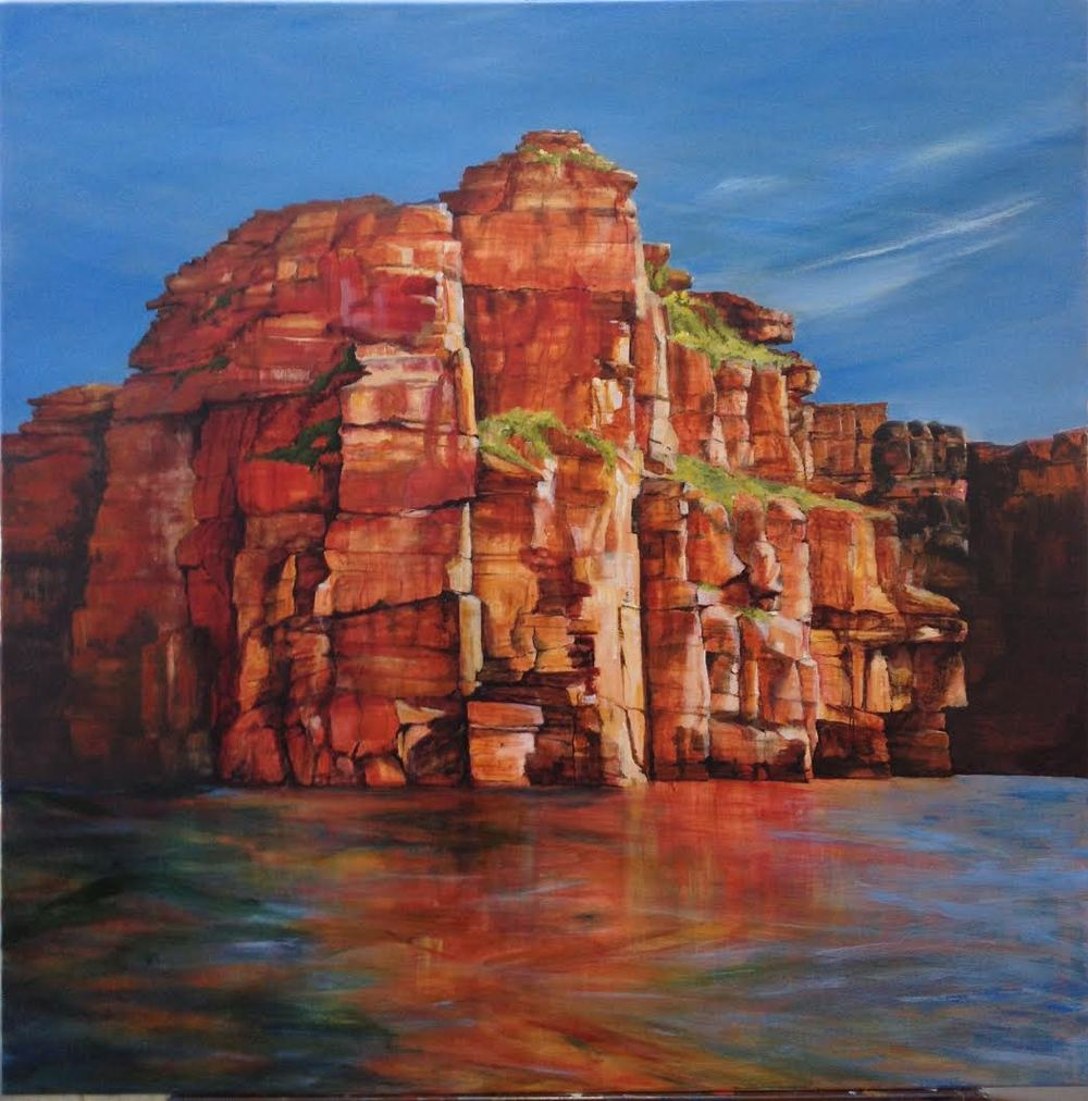 Red Escarpment & Waterline (Kimberley Series)