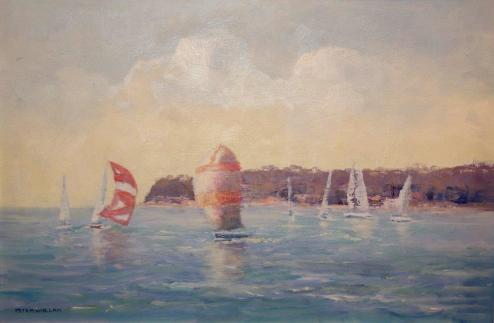 Sailing on the Harbour by Peter Whelan FRAS