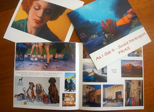 "Susie Devenport's ""As I See It"" Soft covered book 20cm x 20cm of her recent exhibition with all 82 paintings in full glossy colour - $20"