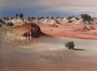 Solitary Bush - Lake Mungo by Brian Stratton OAM