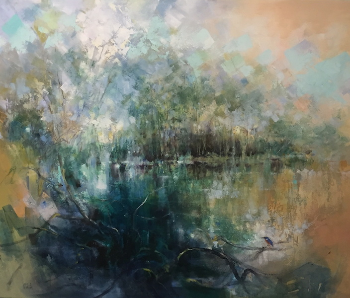 The Kingfisher and the Lake by Susan Sheridan FRAS