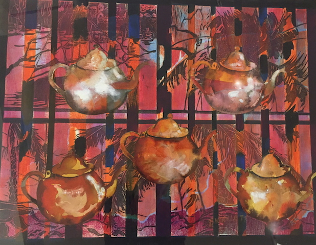 Teapots on Mosman Bay by Beverley Wollett FRAS