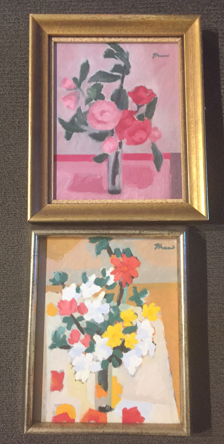 Pink Camellias and Spring Flowers by Joanne Thew FRAS