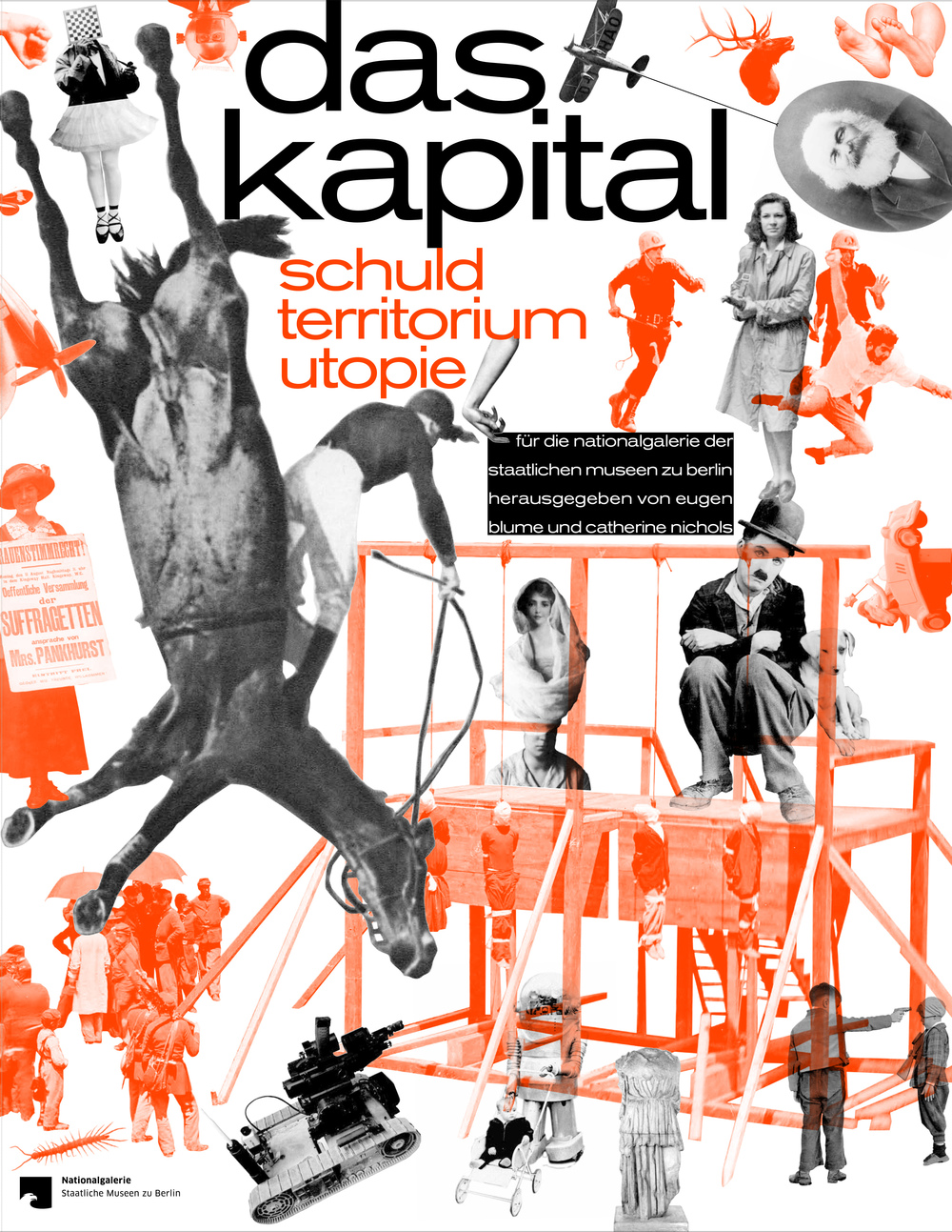 "Exhibition poster for ""Capital: Debt - Territory - Utopia."""