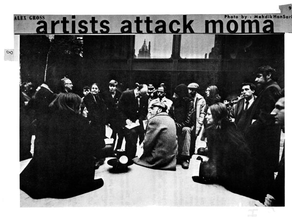 Artists Attack MoMA, published in the East Village Other, January 1969.