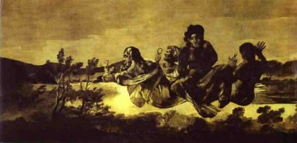 Goya: The Fates. Dylan: 'As friends and other strangers from their Fates try to resign…'