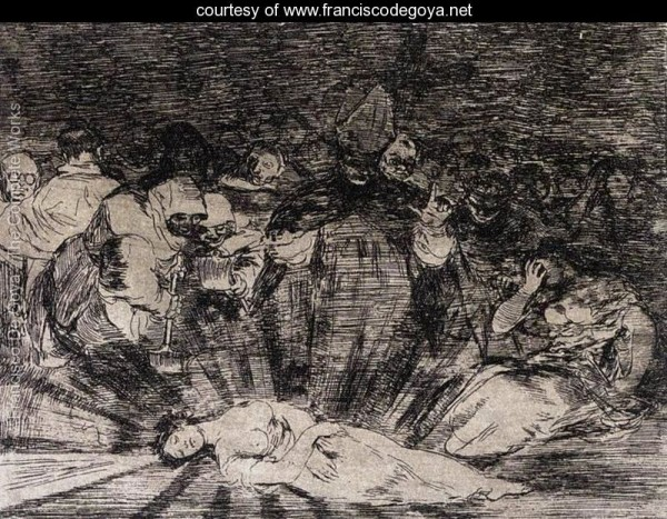 Goya: Truth has died.   Dylan: Sometimes I think there are no words but these to tell what's true…