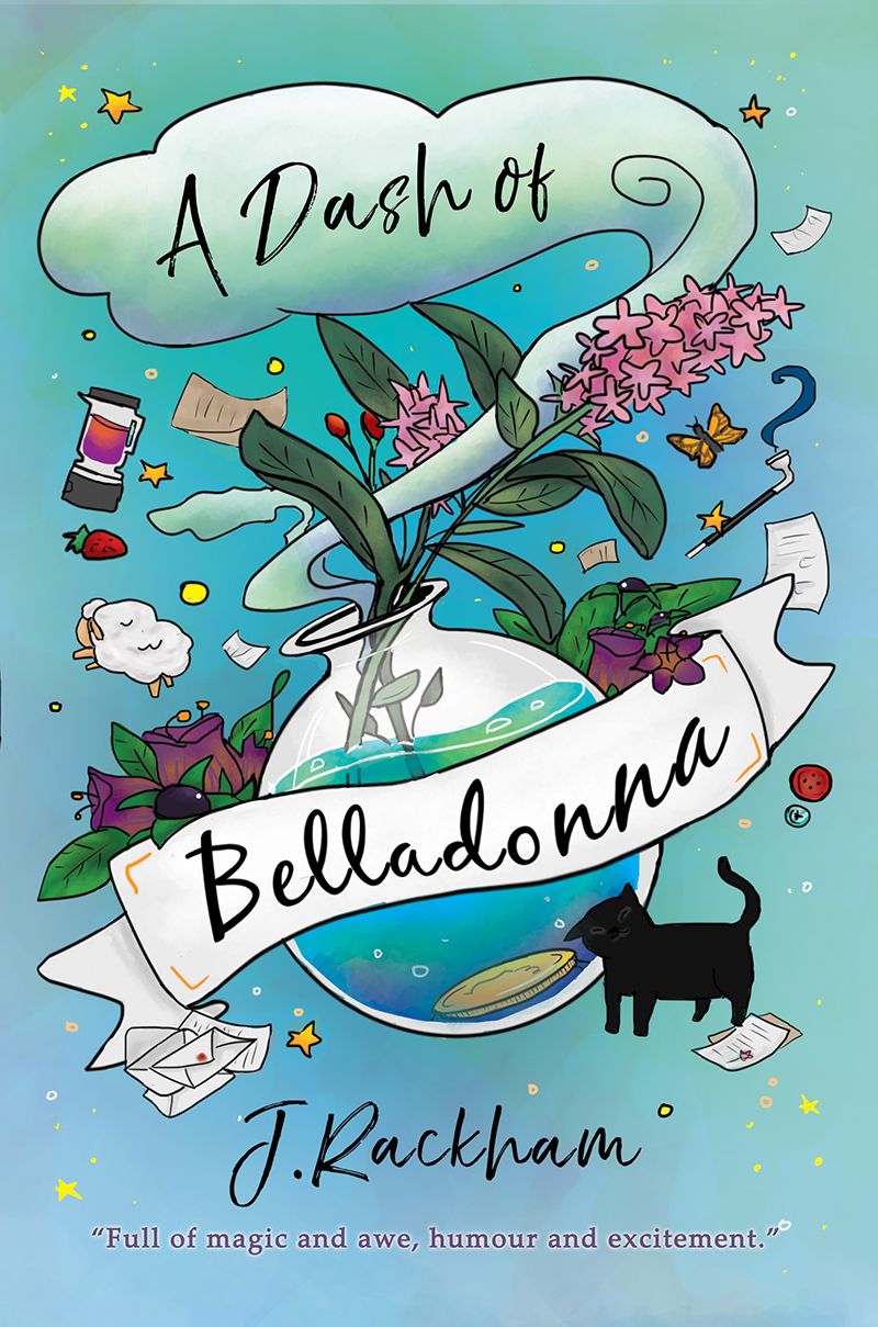A Dash of Belladonna  , a delightful fantasy told in exuberant voice of Lottie, a young Potion Master apprentice as she finds herself realities to face, a puzzle to solve, and lives to save; all while trying to be a responsible adult. Will she succeed, or will she destroy the lives of her new family?