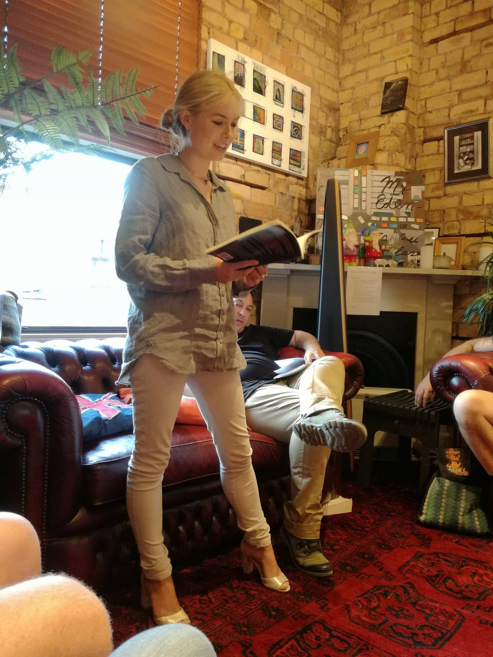 Sophia Hardy reading from her book