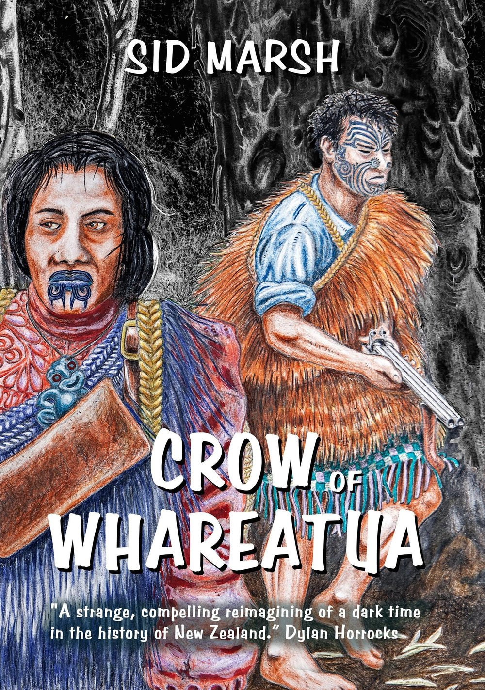 Crow of Whareatua ,  A graphic novel: The year is 1869, Te Kooti Arikirangi te Turuki, commands a deadly Maori guerilla force. Te Urewera is the battleground: a wilderness of forest, bird, mountain and waterway.  Crow of Whareatua  brings to life a one-month period of a brutal war, one which was to shape New Zealand's Destiny.