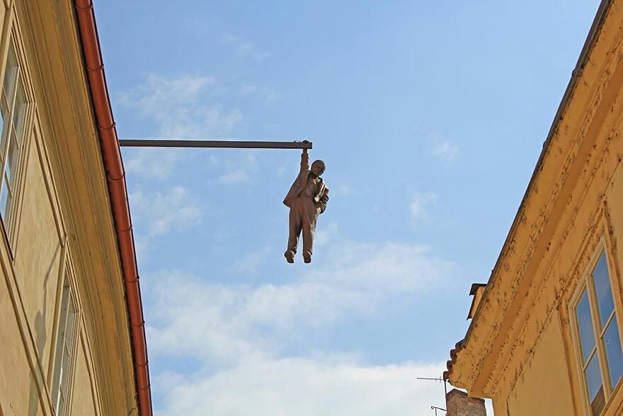 El hombre que cuelga, Praga, República Checa