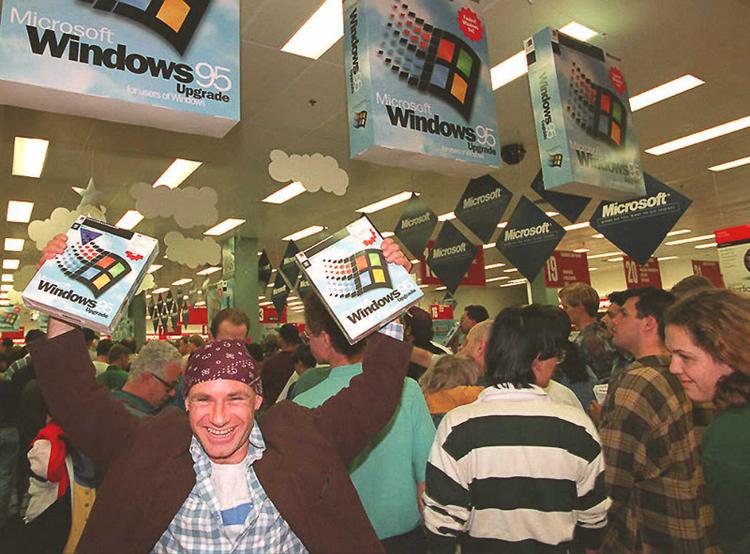 Una joya. Bill Gates y su baile en la presentación de Windows 95