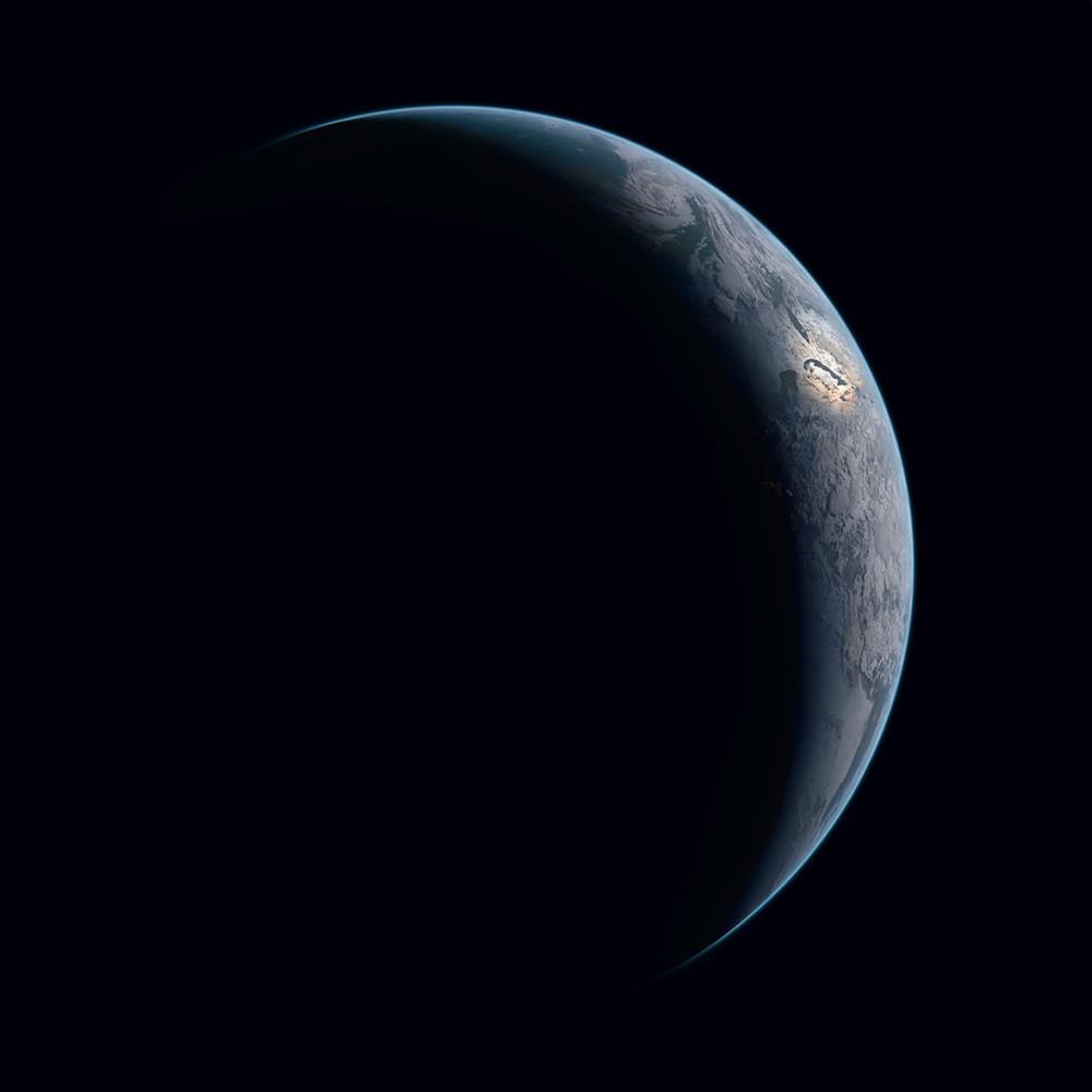 La tierra con el caribe iluminado. 18 de mayo de 2015