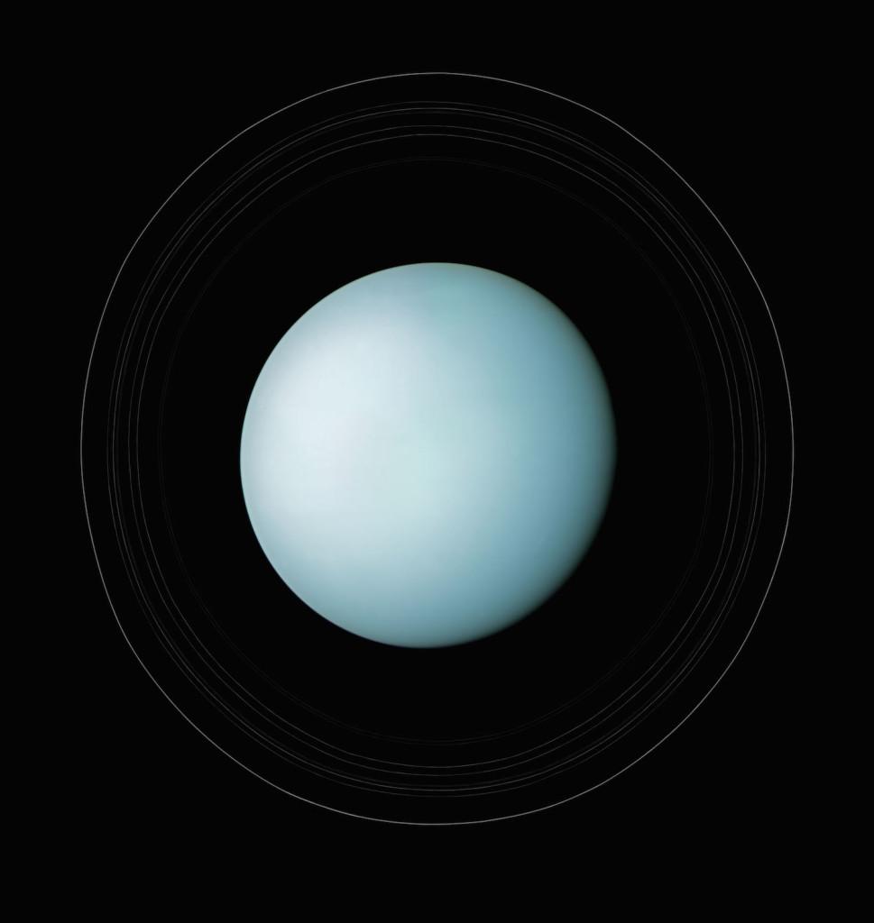 Urano y sus anillos. 24 de enero de 1986