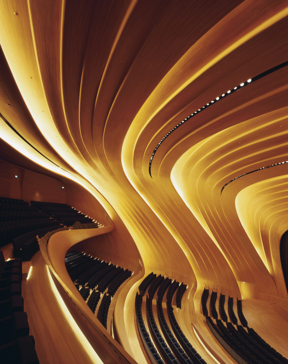 Interior del Haydar Aliyev Center