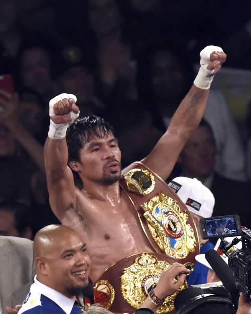 Pacquiao se retira a la política con victoria sobre Bradley