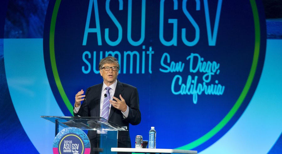 Bill Gates en el ASU GSV Summit en San Diego, California