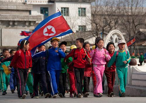Eric Lafforgue y su fotografía infraganti en Corea del Norte.