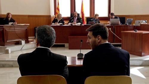 Messi condenado a 21 meses de prisión.
