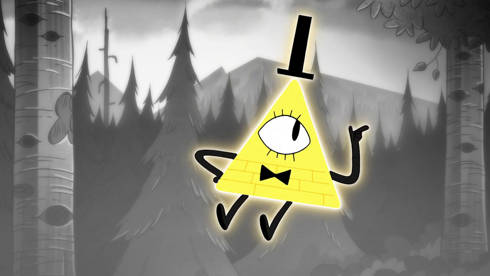 Bill Cipher, el villano de la serie. Gracioso, impredecible y original.