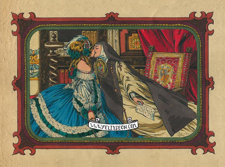 Sor Juana y la Virreina por Félix