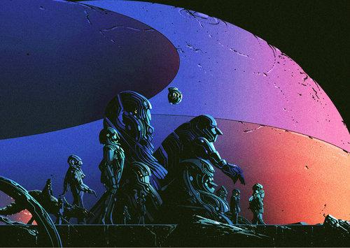 Kilian Eng y sus ilustraciones futuristas