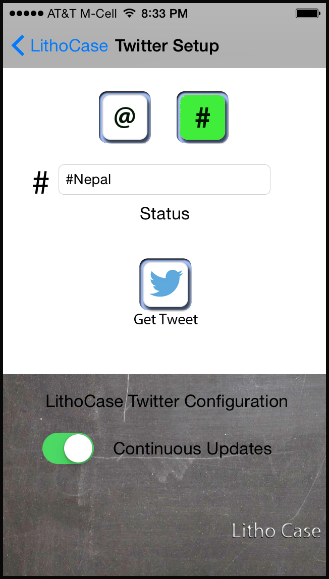 lithocase application continuous updates hashtag twitter iphone case