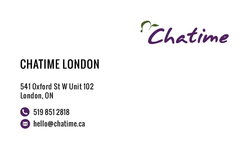 Chatime london tiffany zheng chatime london business card front reheart Choice Image