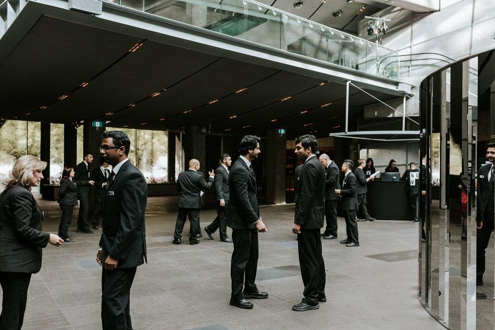 Anna + Nilesh,NGV International, Melbourne wedding. Photo: Marnie Hawson