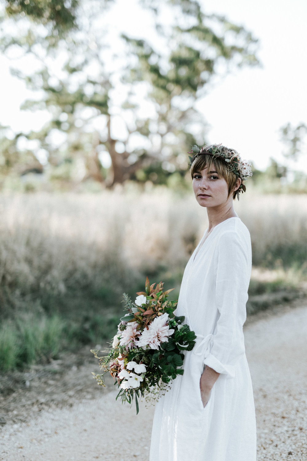 Metta Melbourne, simple linen wedding dresses