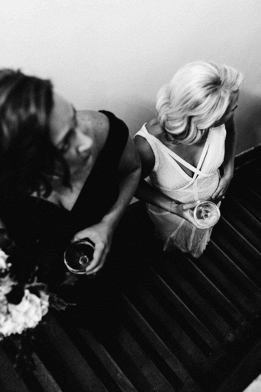 Elise + Amy Mcdonald_first same sex marriage in Victoria, photo by Marnie Hawson Weddings. Epocha restaurant, Carlton
