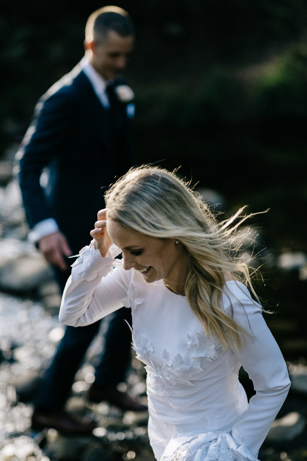 Marnie Hawson, ethical wedding photographer and Jason Hewitt Bridal