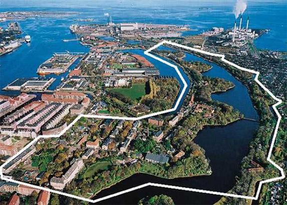 Aerial Map of Christiania Copenhagen