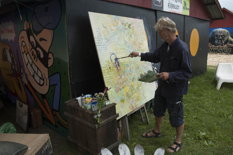 Christiania resident paints