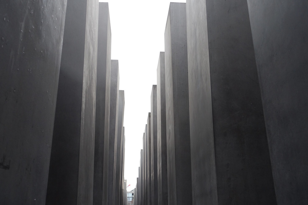 Towering Cement Graves at the Jewish Memorial in Berlin