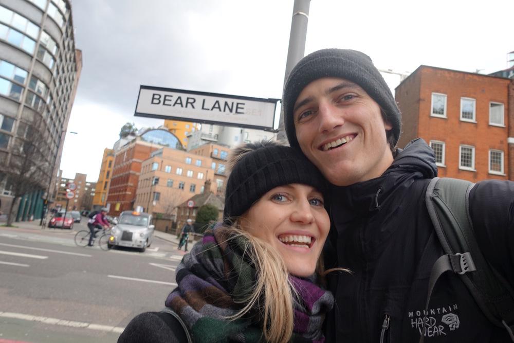 Eve and Chris Bear Lane Sign