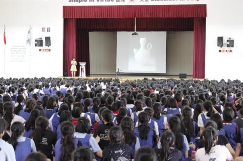 Dr. Wee's artist talk at St. Nicholas Girls School