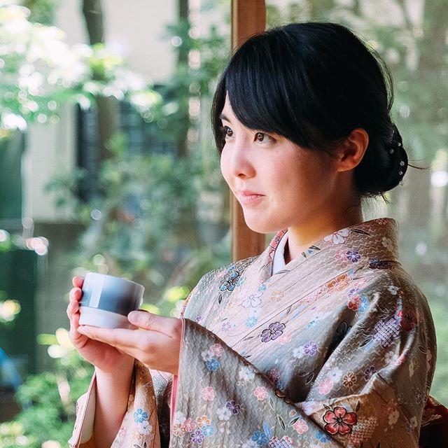 🍵 Asemi Hasami Shadow cup at Mitaka Seishintei. Seishintei. #mitakaseishintei #みたか井心亭 #茶室 #chashitsu #井の頭公園 #井の頭千人茶会 #mitaka