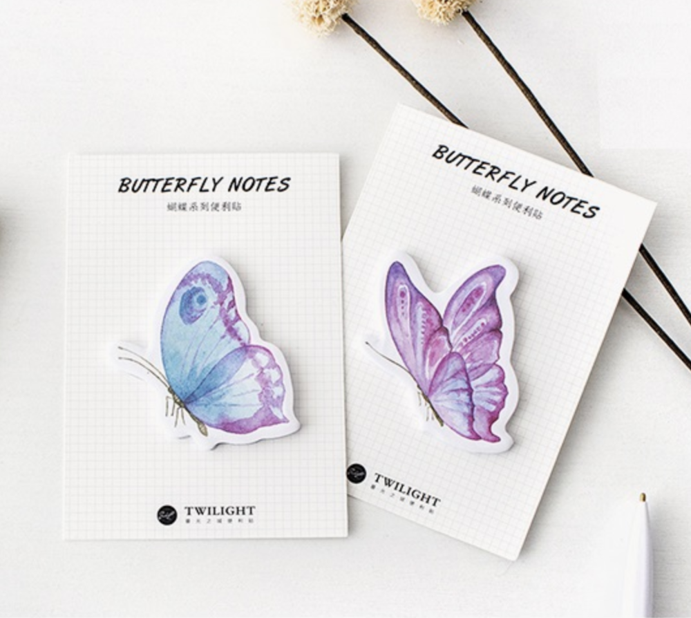 Butterfly Sticky Notes