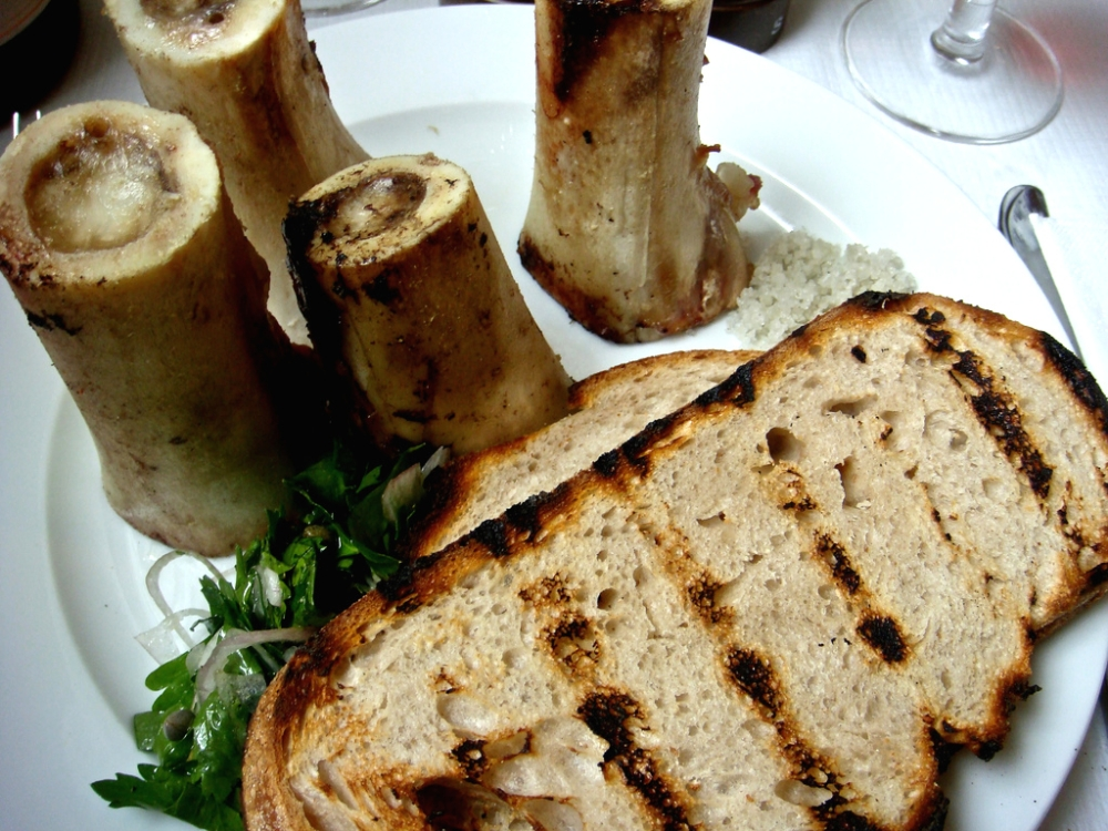 Roasted Marrowbone with Parsley and Toast at St John's Restaurant